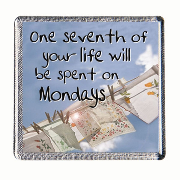 History & Heraldry Sentiment Fridge Magnet One seventh of your life