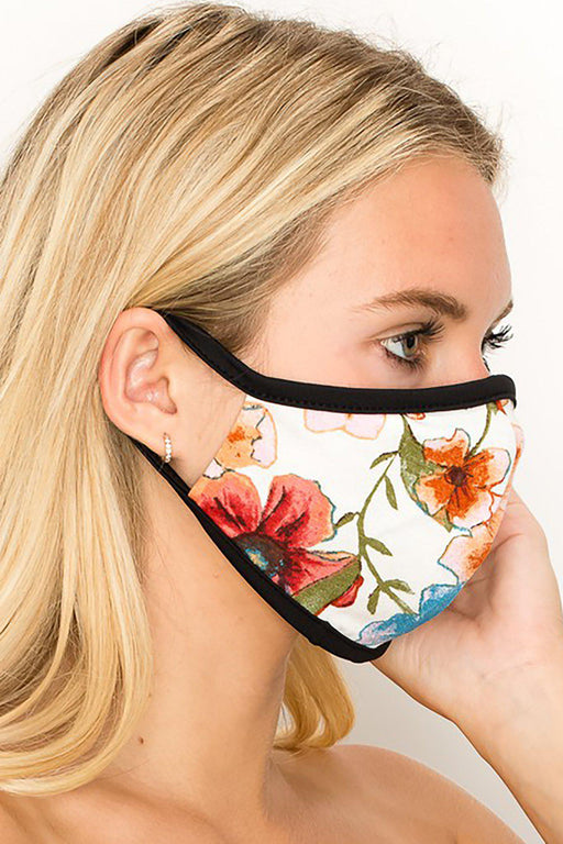 Floral & Stars Fashion Face Mask-Belle and Broome