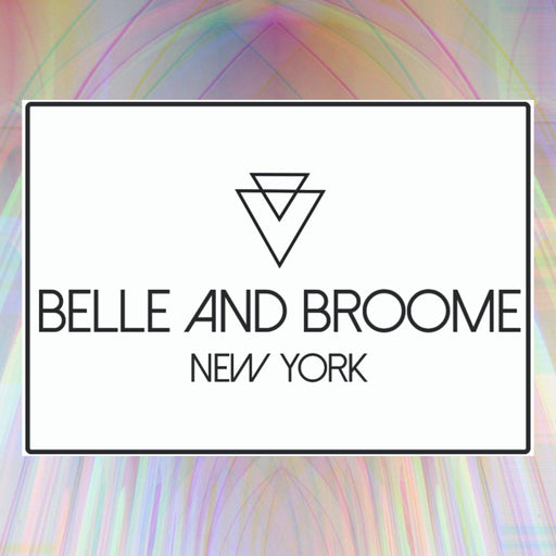 Belle and Broome gift card graphic with holographic background