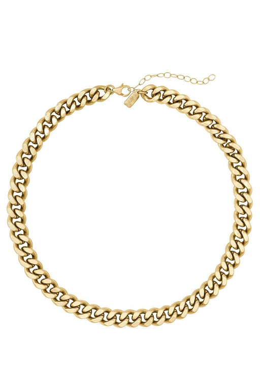 Giselle Thick Gold Chain Necklace on white background