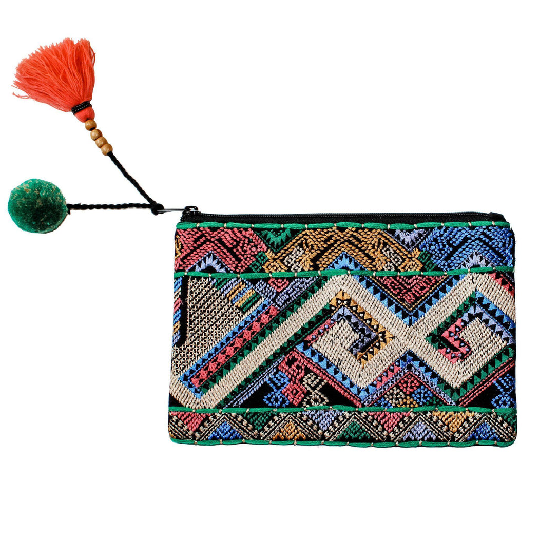 Maldives Multi Embroidered & Beaded Clutch-clutch, handbags-Belle and Broome
