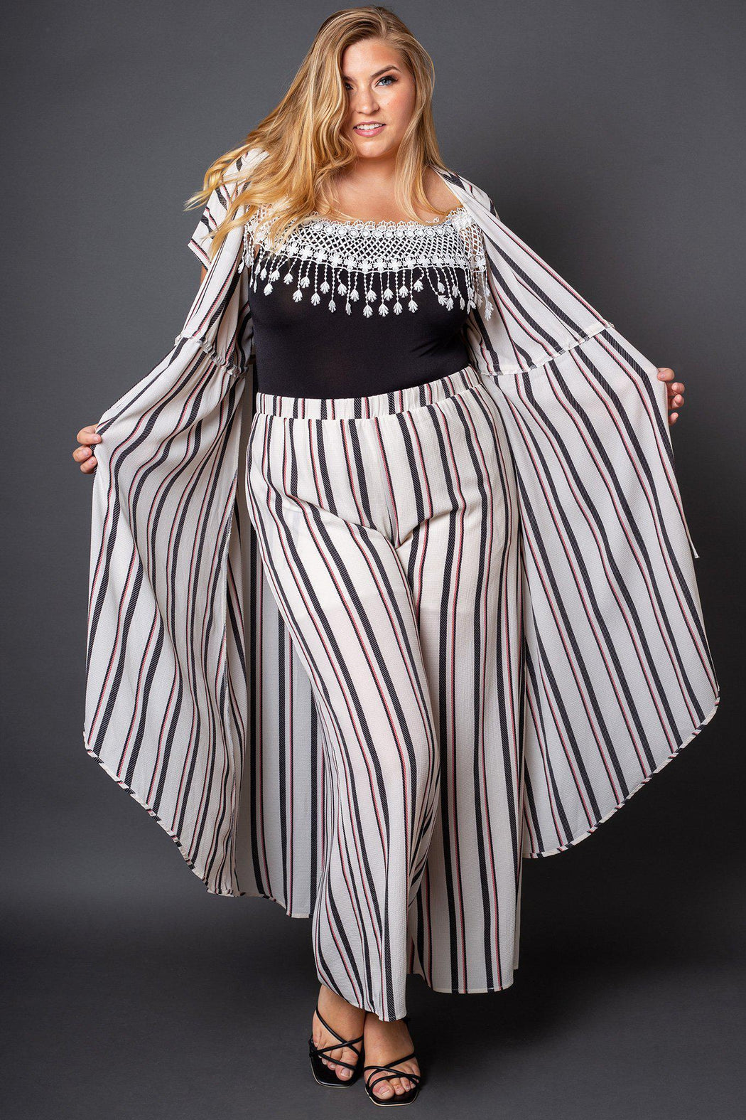 Nolita Striped Wide Leg Pants-matching sets, bottoms, clothing-Belle and Broome