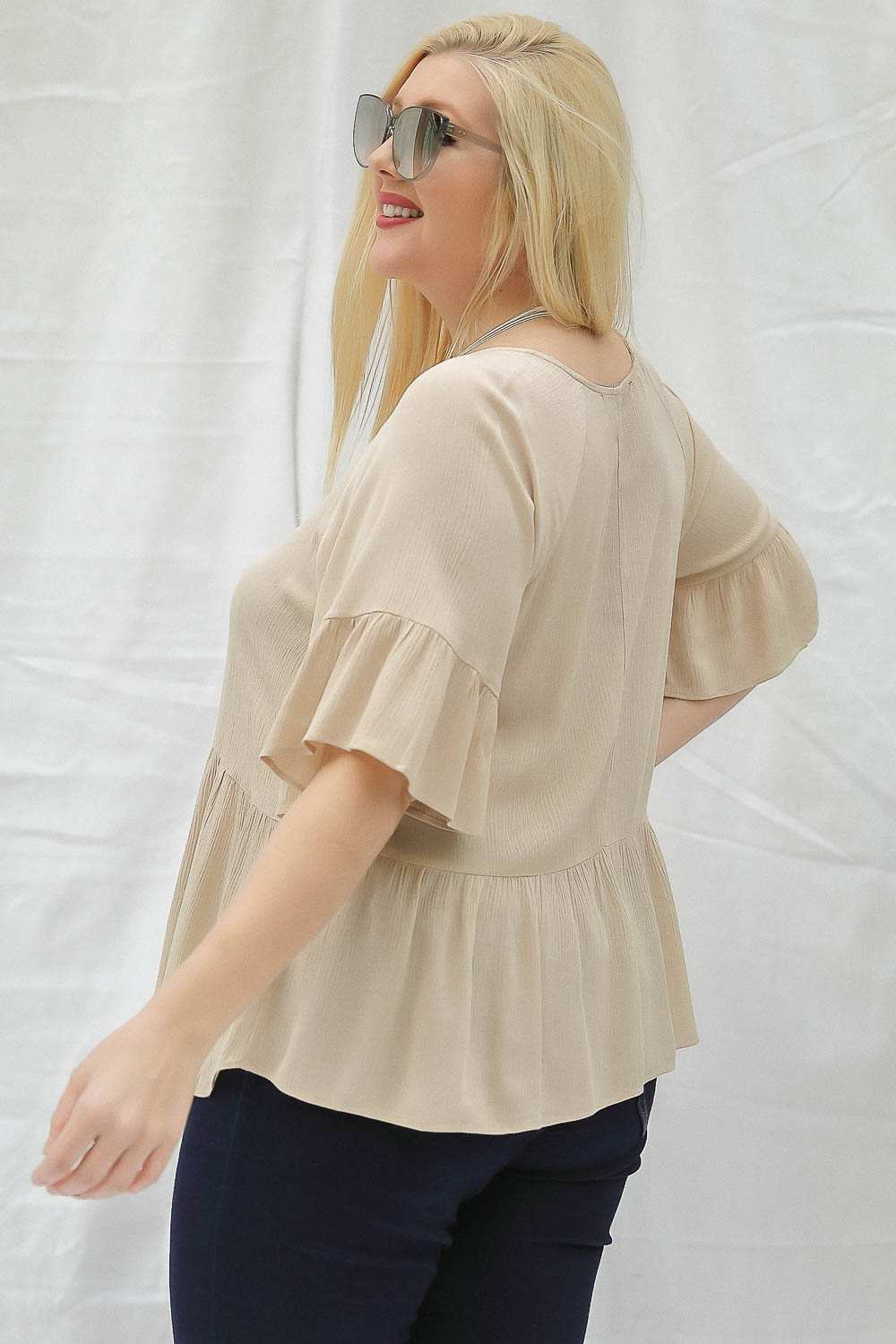 Robin Ruffle Sleeve Blouse-tops, clothing-Belle and Broome