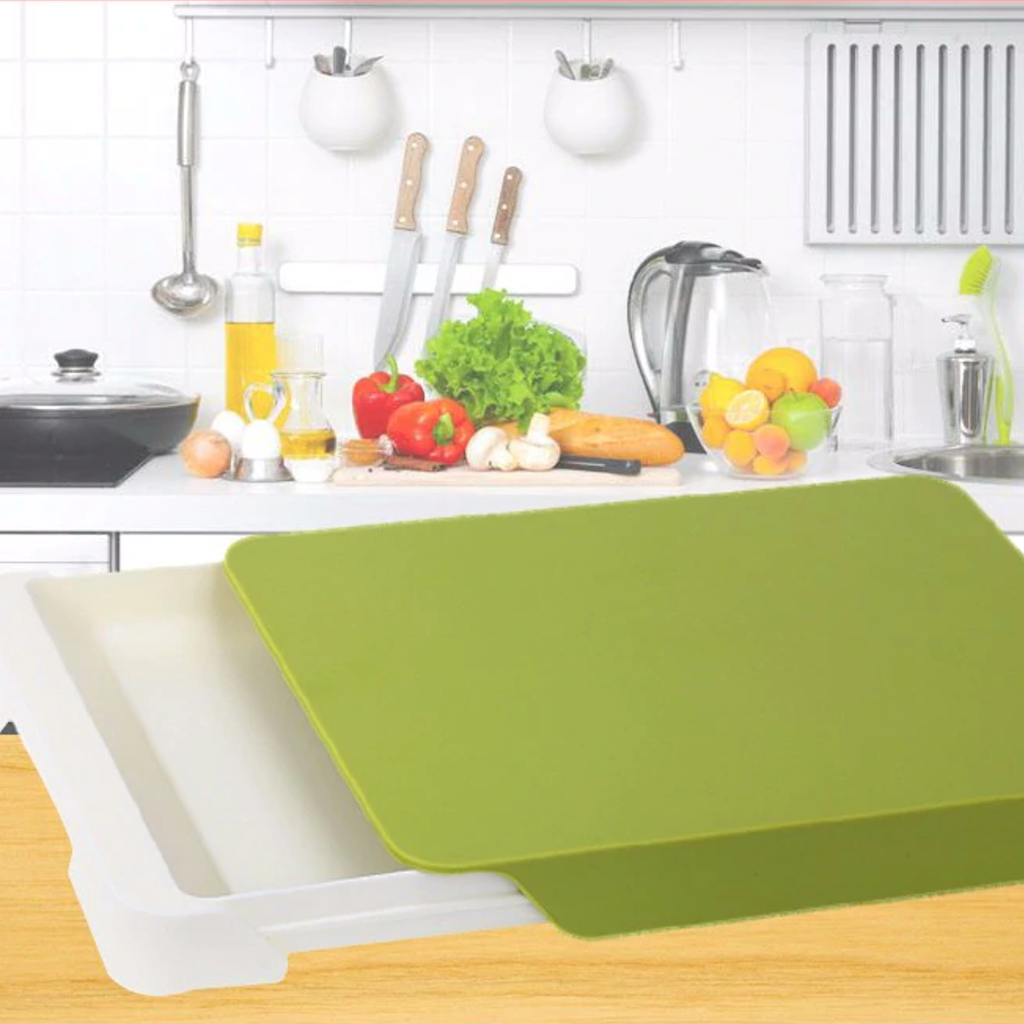 Cutting Board with Drawer