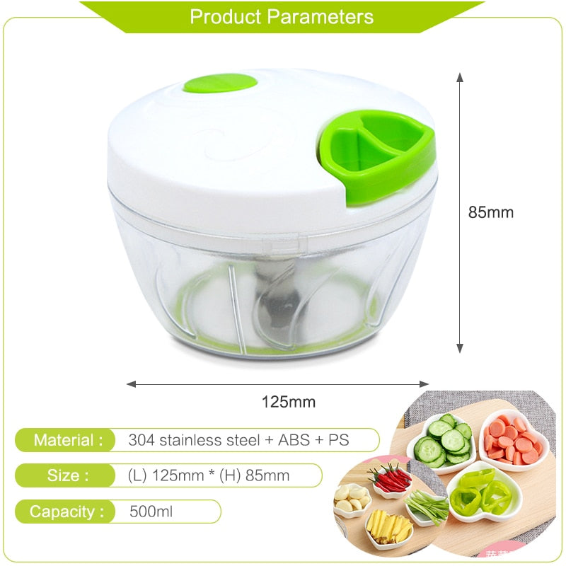 Hand-power Food Chopper & Meat Grinder