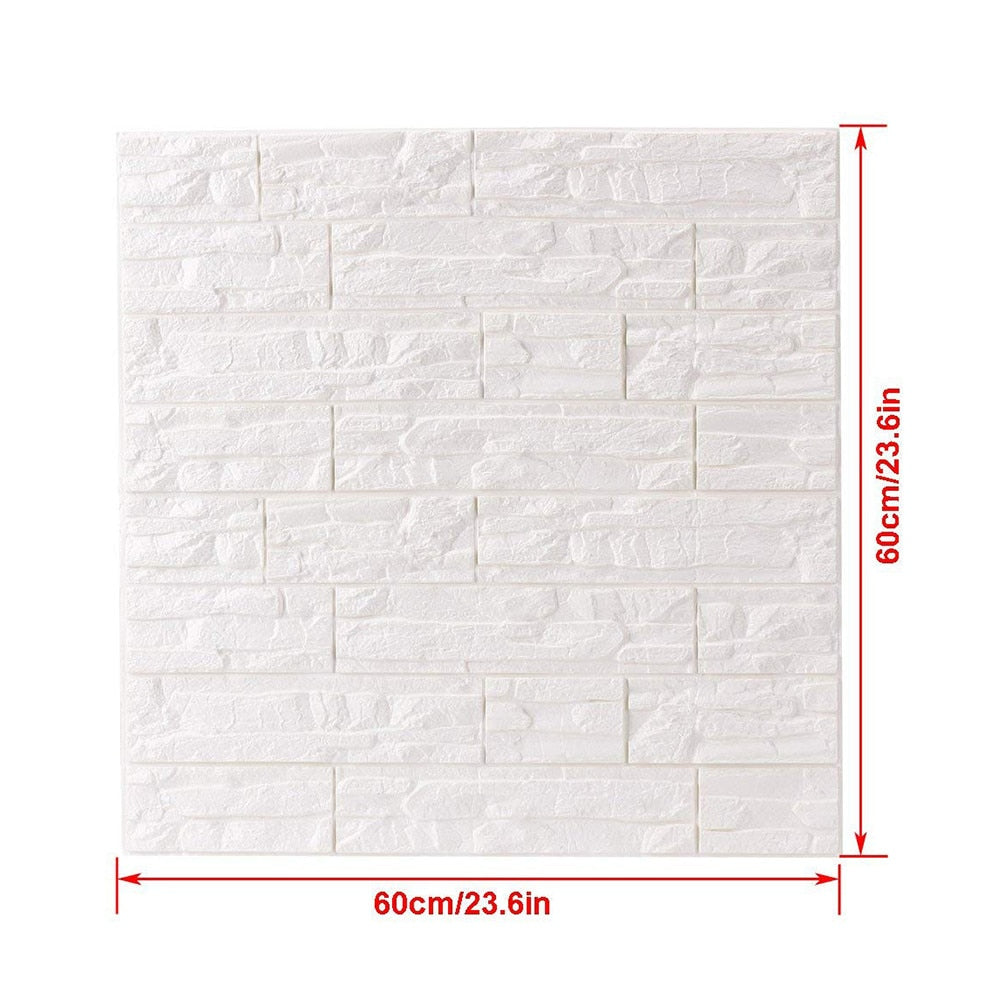 Brick Wall Stickers 60x60cm
