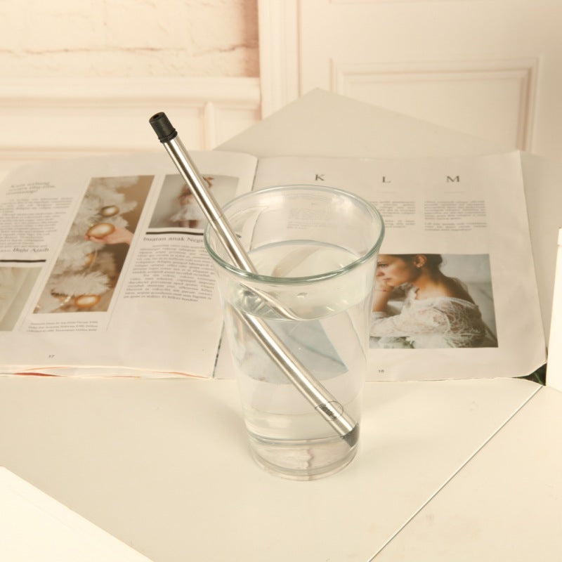 Collapsable Stainless Steel Straw - Grey*