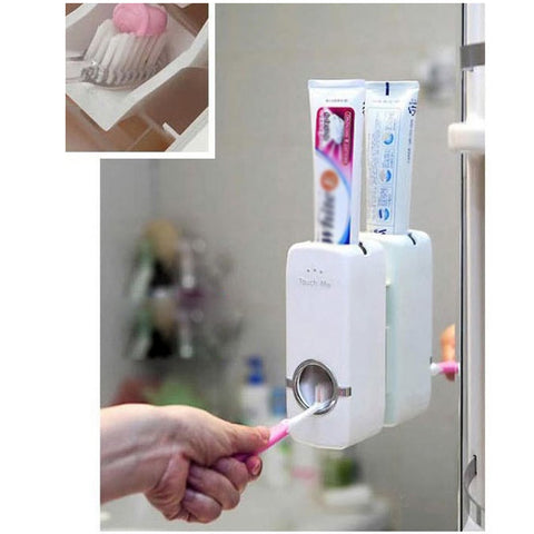 Automatic 2-in-1 Toothpaste Dispenser & Toothbrush Holder