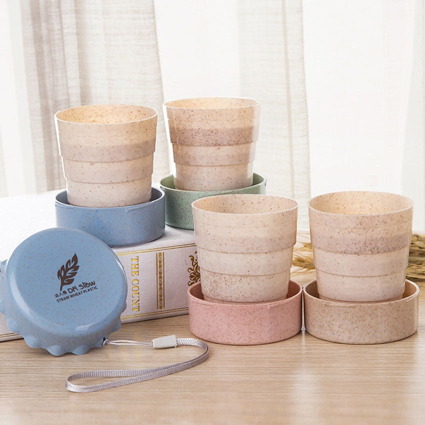 Biodegradable & Collapsable Cup - Beige*
