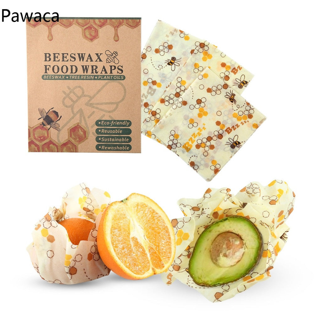 Reusable Beeswax Wrap (3 pcs) + FREE SHIPPING