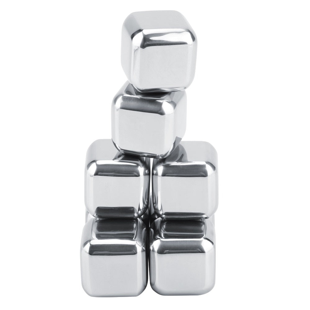Reusable Stainless Steel Ice Cube (6pcs)