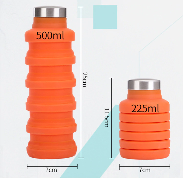 Collapsable Water Bottle - Grey*