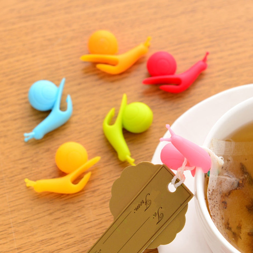 Silicone Snail Tea Bag Holders (5 Pc)