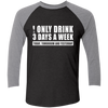 I Only Drink Wine - Sleeve Baseball T-Shirt