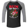 Run Like There's Wine - Baseball Sleeve T-Shirt