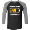 Getting Drunk - Baseball Sleeve T-Shirt