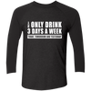 Beer 3 Days A Week - Sleeve Baseball T-Shirt