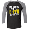 B-eer Positive - Baseball Sleeve T-Shirt