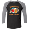 Drinks Well With Others - Baseball Sleeve T-Shirt