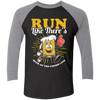 Run Like There's Beer - Baseball Sleeve T-Shirt