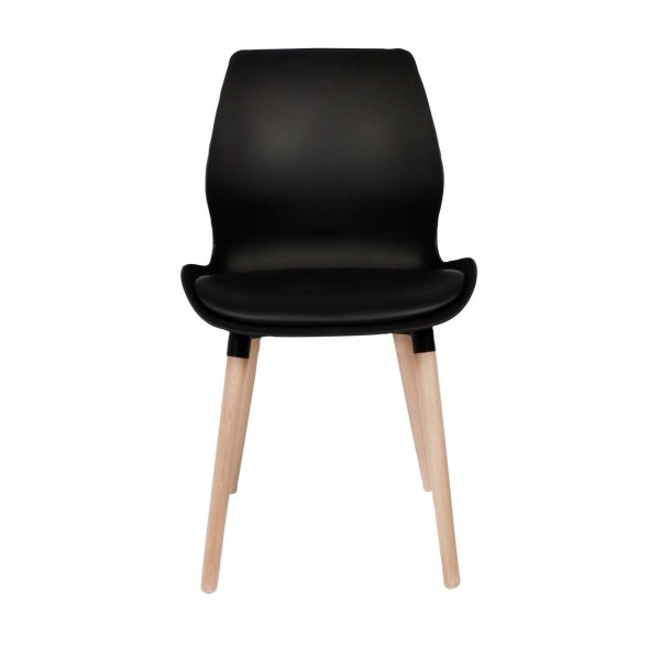 Nemo chair, Black, Oak white oiled legs Spisebordsstole - Nordic Vikings
