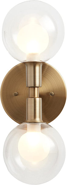 Aria Brass Double light sconce
