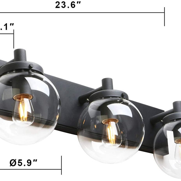 Black Path triple vanity Sconce