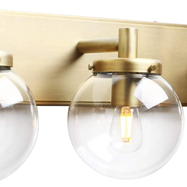 Path Brass Triple Vanity Sconce