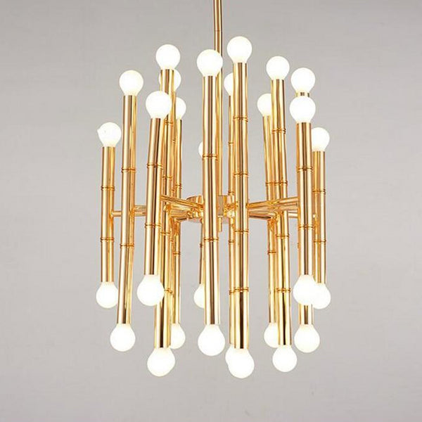 multi-head gold modern chandelier