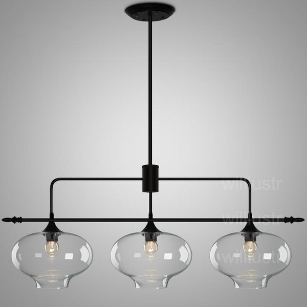 three light black farmhouse chandelier