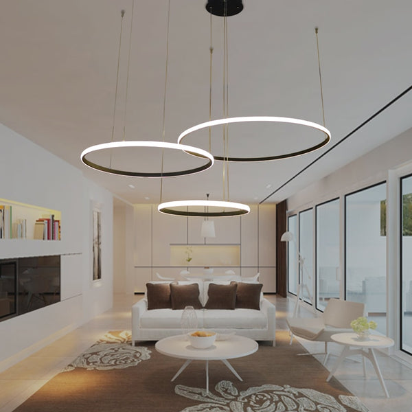 Led Chandelier Light Circle Rings
