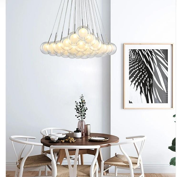 Molec Multi Globe Modern LED chandelier