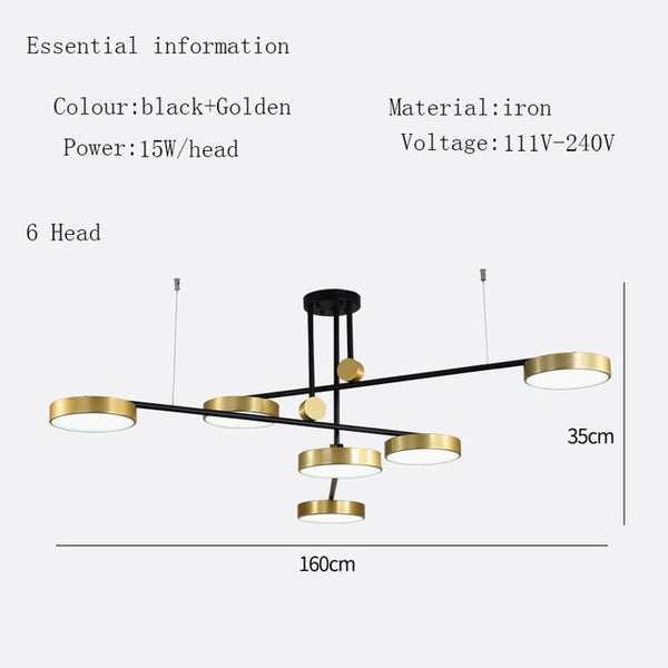 gold designer lighting