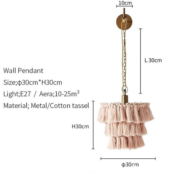 Cotton Tassel Bohemian Sconce