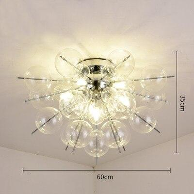 glas globe molecular flush mount light