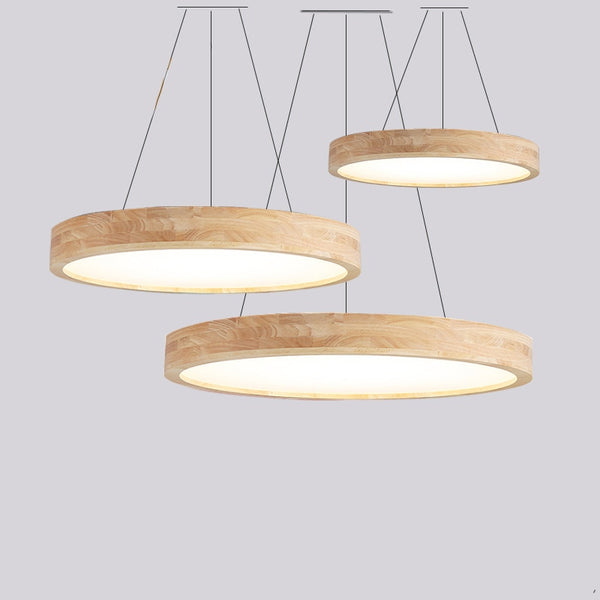 Modern Wood Suspension Luminaire