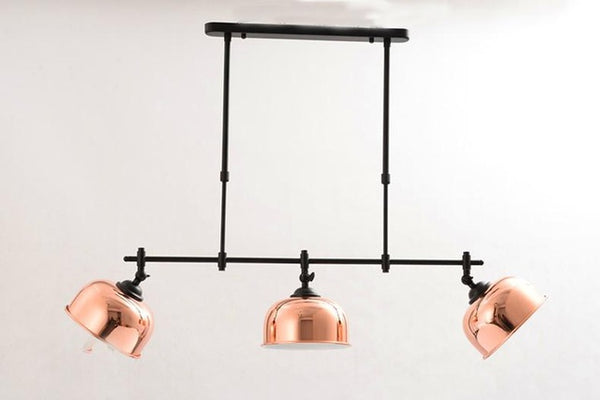linear chandelier farmhouse style pipe erected