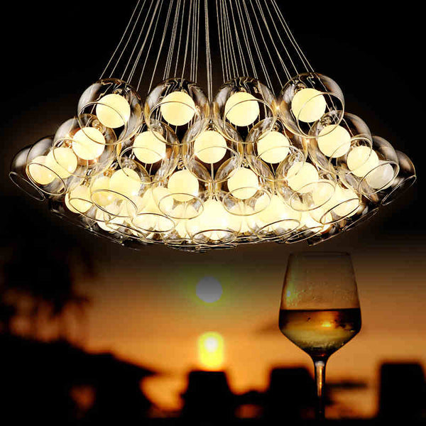 multi glass ball big light fixture