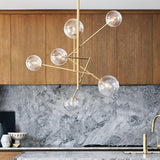 gold geometric globe chandelier