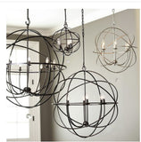thin black orb chandelier 8 lights