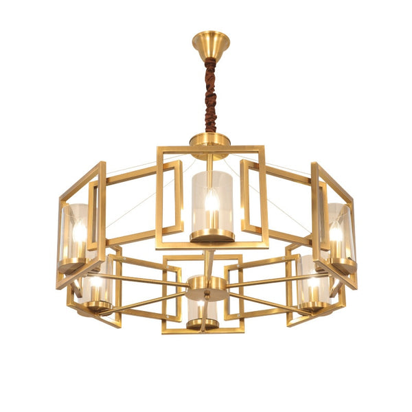big round gold statement chandelier