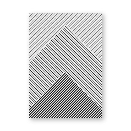 Black and White Stripes Geometric Art Poster
