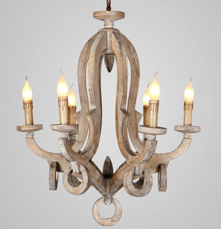 rustic vintage wood chandelier