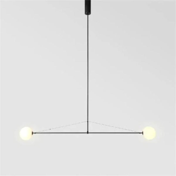 minimalist black 2 light chandelier