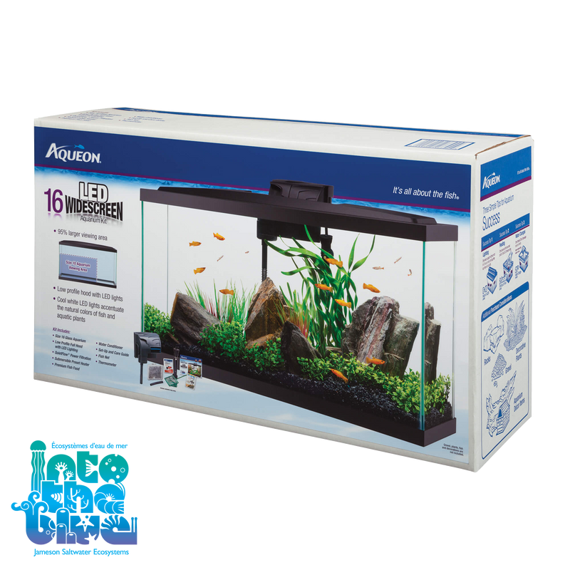 Aqueon - Aquarium Kit | 16G LED Widescreen