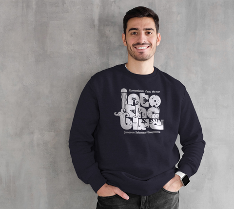 Crewneck Sweatshirt - Into the blue (White)