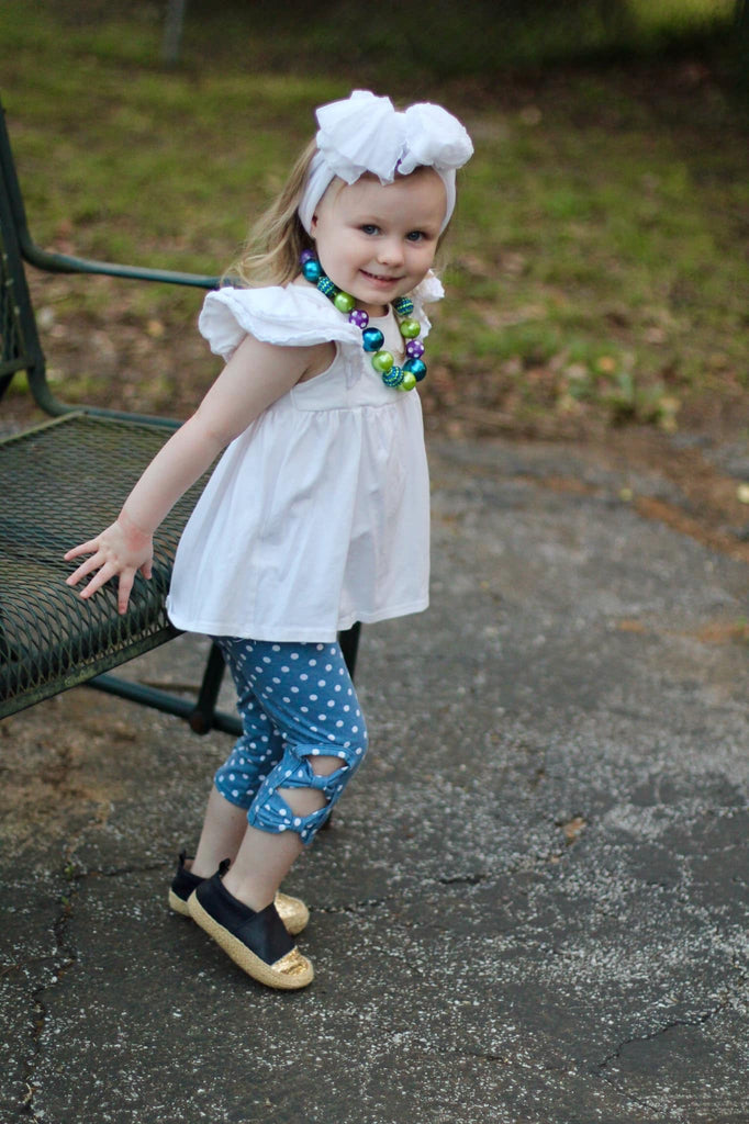 April Showers Peek-A-Bow Capris