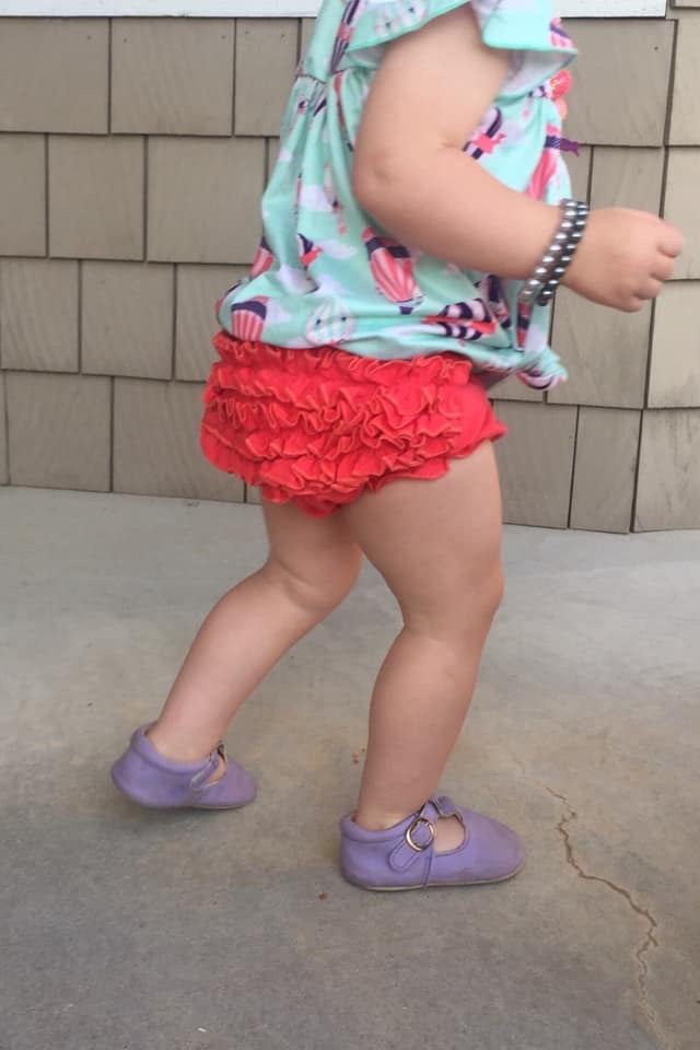 Bright Coral Ruffle Butt Bloomers
