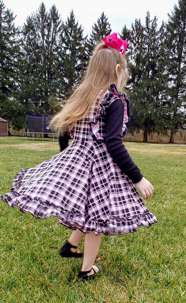 Perfectly Pink Plaid SLEEVLESS Dress