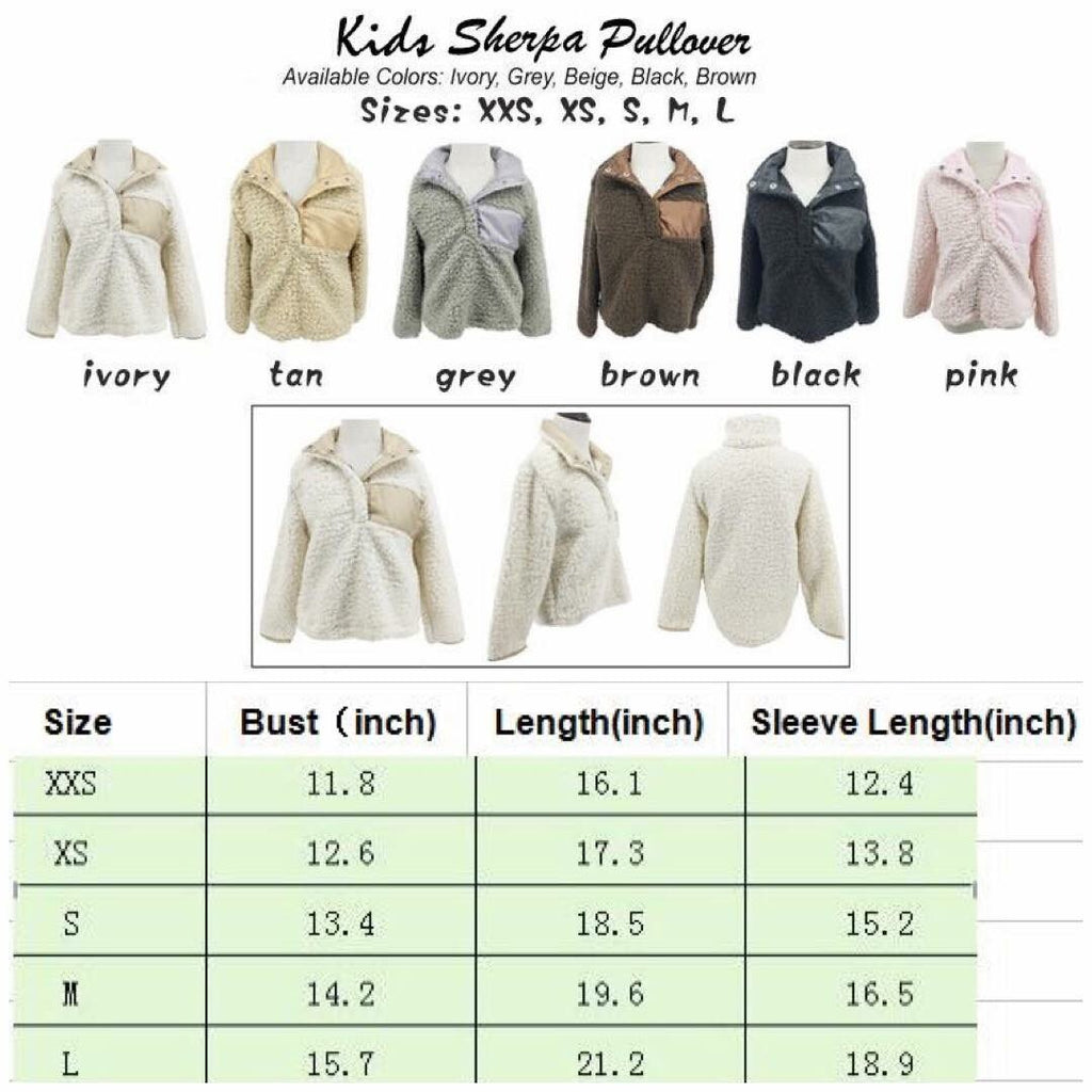 Kids Sherpa Pullover (NO Monogram)